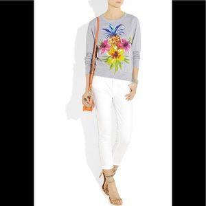 Juicy Couture Tropical Print Sweatshirt Sz XS